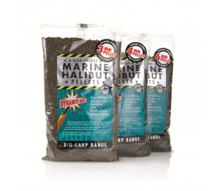 Пелети Dynamite Baits Marine Halibut Pellets 8mm