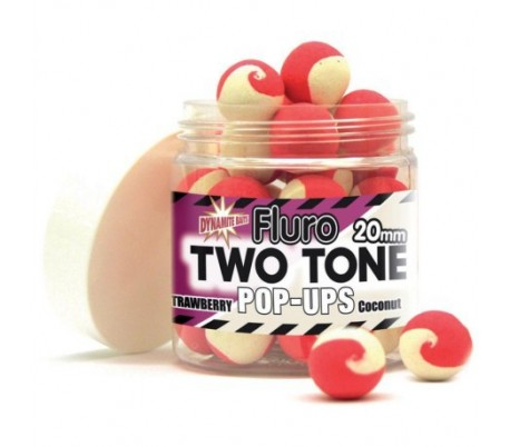Pop-up топчета Dynamite Baits Two Tone Fluro Plum & Pineapple 15mm