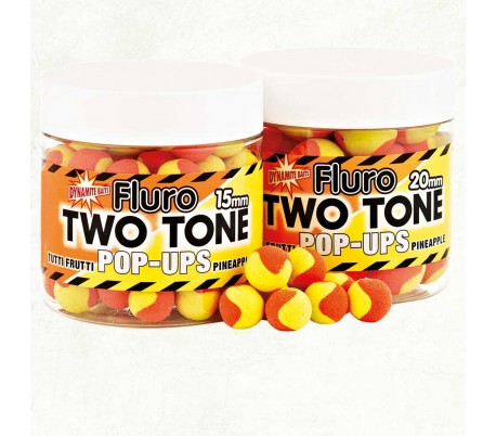 Pop-up топчета Dynamite Baits Two Tone Fluro Strawberry & Coconut 15mm