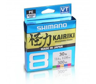 Плетено влакно Shimano Kairiki 8 Multi Colour 300m