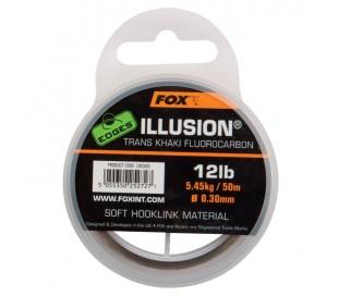 Флуорокарбон Fox Edges Illusion Trans Khaki Hooklink