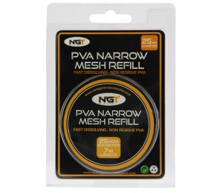 Пълнител PVA NGT Narrow Refill - 7m x 25mm PVA Mesh