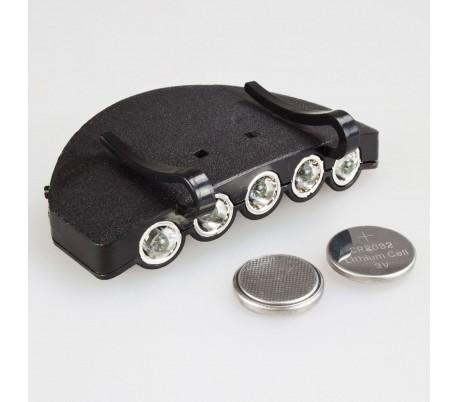 LED фенер за шапка с козирка Maxfish