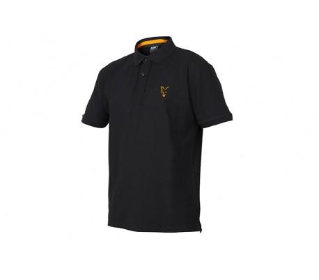 Тениска Fox Collection Black & Orange Polo Shirt