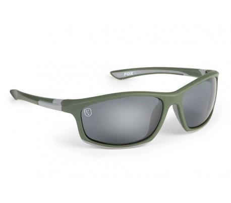 Слънчеви очила Fox Collection Black & Orange Frame/Grey Lens