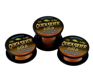 Повод с покритие Kryston Quick Silver Gold 25lb